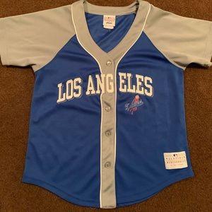 Small lady slugger dodgers jersey
